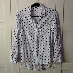 ❄️ 3/$25 Black and White Polka Dot Blouse